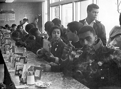 Restaurants played a major role in the Civil Rights Movement as places to plan, places for peace, and places to protest.