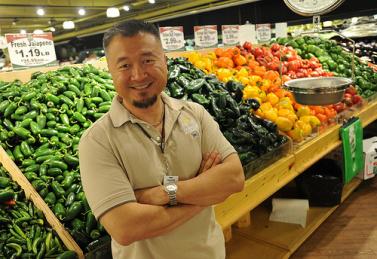 Harold Shinn at his family's Buford Highway Farmers Market.
