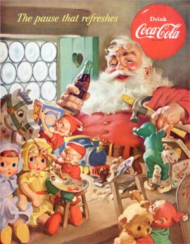 Artist Haddon Sundblom, and Coca-Cola's marketing prowess, created the imagery we associate with modern day Santa Claus.