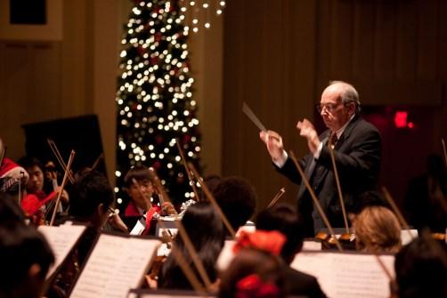 Jere Flint conducting at Christmas. Photo credit Erik Dixon.