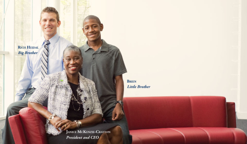 """Janice McKenzie-Crayton shares her passion for giving with """"Bigs"""" and """"Littles"""" at the new home of Big Brothers Big Sisters of Metro Atlanta at 1382 Peachtree Street."""