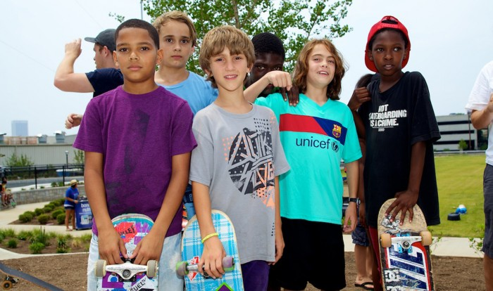 Kids at Historic Fourth Ward Skatepark. Atlanta, GA. 2011. Photo by Miki Vuckovich.
